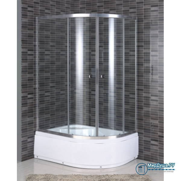 Душевой уголок Aquadush AD-B 100/80 L прозрачное стекло