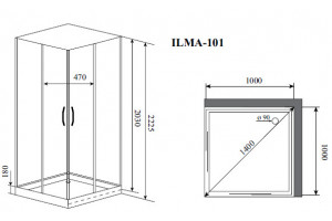 Душевая кабина Timo Ilma 101