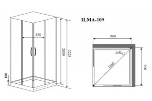 Душевая кабина Timo Ilma 109