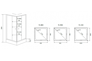 Душевой уголок Timo TL-1102 матовое стекло