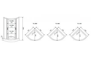 Душевой уголок Timo TL-8001 матовое стекло