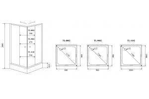 Душевой уголок Timo TL-8002 прозрачное стекло